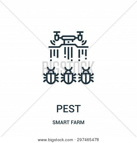 Pest Icon Isolated On White Background From Smart Farm Collection. Pest Icon Trendy And Modern Pest