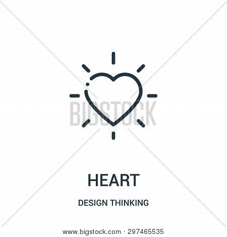Heart Icon Isolated On White Background From Design Thinking Collection. Heart Icon Trendy And Moder