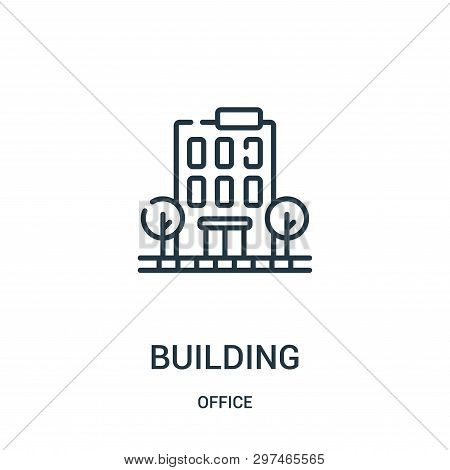 Building Icon Isolated On White Background From Office Collection. Building Icon Trendy And Modern B