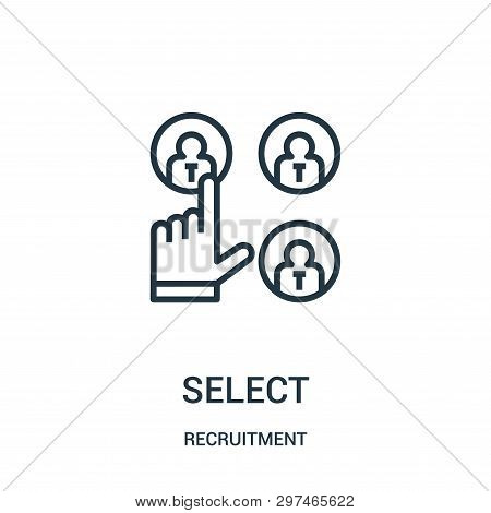 Select Icon Isolated On White Background From Recruitment Collection. Select Icon Trendy And Modern