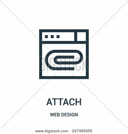 Attach Icon Isolated On White Background From Web Design Collection. Attach Icon Trendy And Modern A