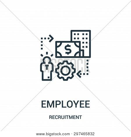 Employee Icon Isolated On White Background From Recruitment Collection. Employee Icon Trendy And Mod