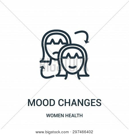 Mood Changes Icon Isolated On White Background From Women Health Collection. Mood Changes Icon Trend