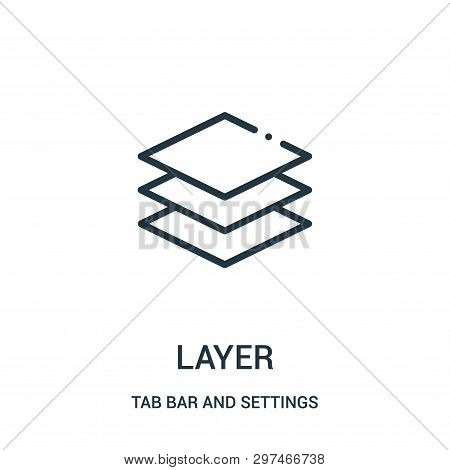 Layer Icon Isolated On White Background From Tab Bar And Settings Collection. Layer Icon Trendy And