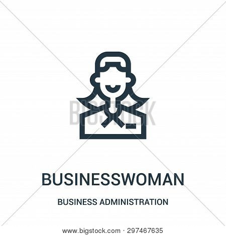 Businesswoman Icon Isolated On White Background From Business Administration Collection. Businesswom