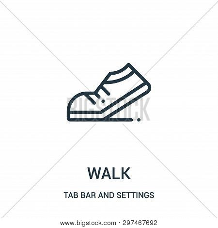 Walk Icon Isolated On White Background From Tab Bar And Settings Collection. Walk Icon Trendy And Mo