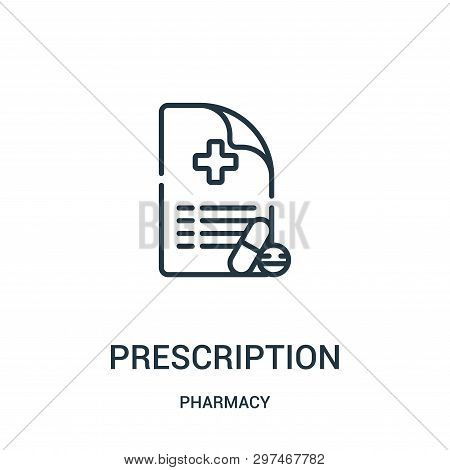 Prescription Icon Isolated On White Background From Pharmacy Collection. Prescription Icon Trendy An