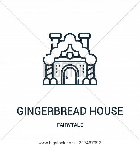 Gingerbread House Icon Isolated On White Background From Fairytale Collection. Gingerbread House Ico