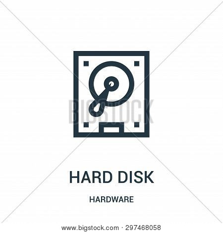 Hard Disk Icon Isolated On White Background From Hardware Collection. Hard Disk Icon Trendy And Mode