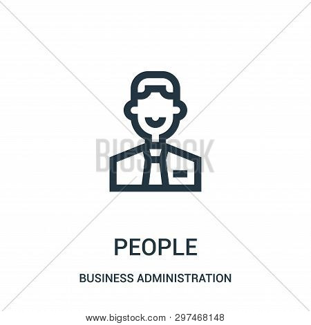 People Icon Isolated On White Background From Business Administration Collection. People Icon Trendy