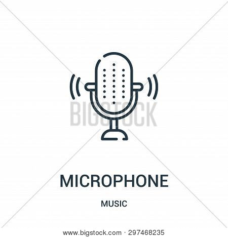 Microphone Icon Isolated On White Background From Music Collection. Microphone Icon Trendy And Moder