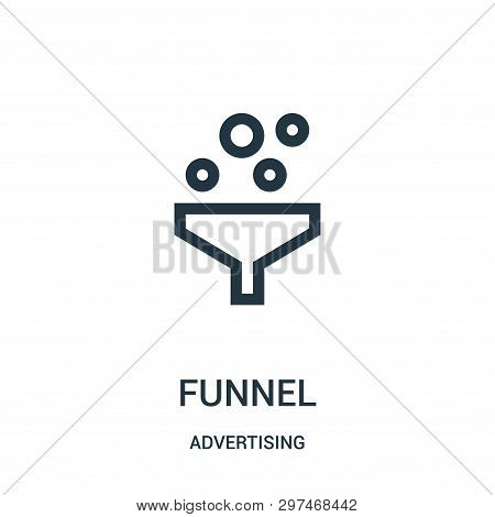 Funnel Icon Isolated On White Background From Advertising Collection. Funnel Icon Trendy And Modern