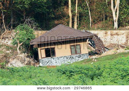 Broken House By Landslide
