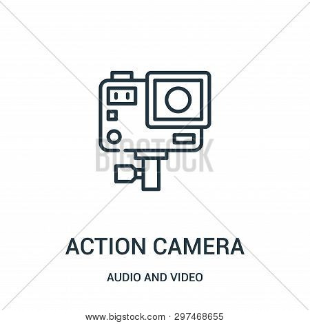 Action Camera Icon Isolated On White Background From Audio And Video Collection. Action Camera Icon