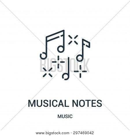 Musical Notes Icon Isolated On White Background From Music Collection. Musical Notes Icon Trendy And