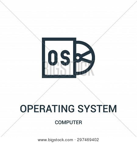 operating system icon isolated on white background from computer collection. operating system icon trendy and modern operating system symbol for logo, web, app, UI. operating system icon simple sign. operating system icon flat vector illustration for grap poster