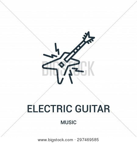 Electric Guitar Icon Isolated On White Background From Music Collection. Electric Guitar Icon Trendy