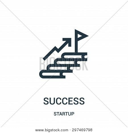 Success Icon Isolated On White Background From Startup Collection. Success Icon Trendy And Modern Su