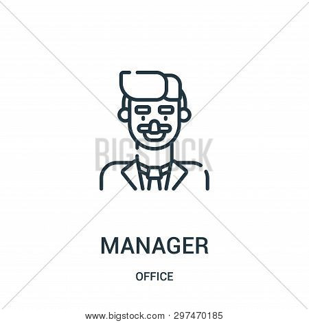 Manager Icon Isolated On White Background From Office Collection. Manager Icon Trendy And Modern Man