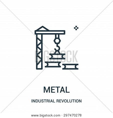 Metal Icon Isolated On White Background From Industrial Revolution Collection. Metal Icon Trendy And