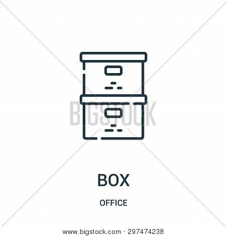 Box Icon Isolated On White Background From Office Collection. Box Icon Trendy And Modern Box Symbol