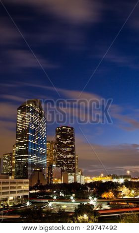 East buildings of downtown Houston