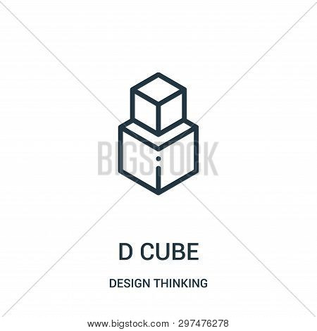 D Cube Icon Isolated On White Background From Design Thinking Collection. D Cube Icon Trendy And Mod