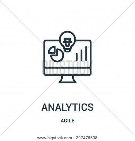 Analytics Icon Isolated On White Background From Agile Collection. Analytics Icon Trendy And Modern