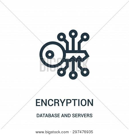 Encryption Icon Isolated On White Background From Database And Servers Collection. Encryption Icon T