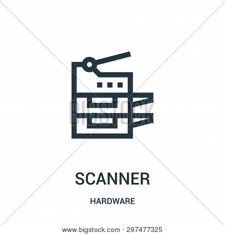Scanner Icon Isolated On White Background From Hardware Collection. Scanner Icon Trendy And Modern S