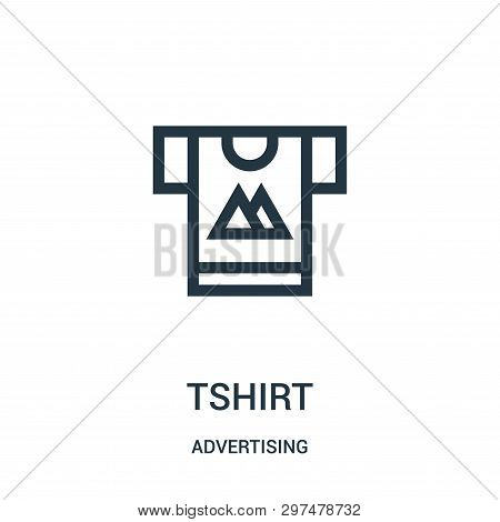 Tshirt Icon Isolated On White Background From Advertising Collection. Tshirt Icon Trendy And Modern