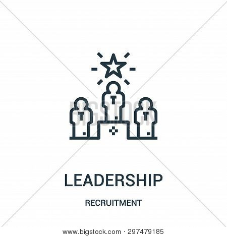 Leadership Icon Isolated On White Background From Recruitment Collection. Leadership Icon Trendy And