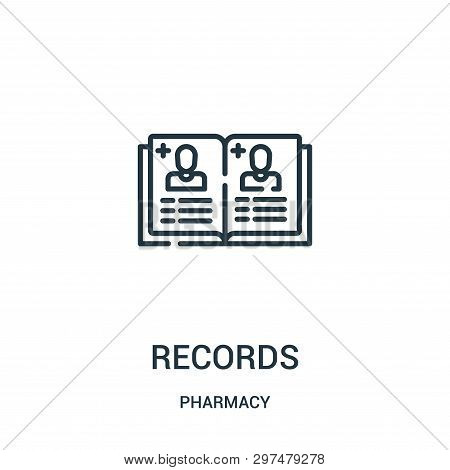 Records Icon Isolated On White Background From Pharmacy Collection. Records Icon Trendy And Modern R