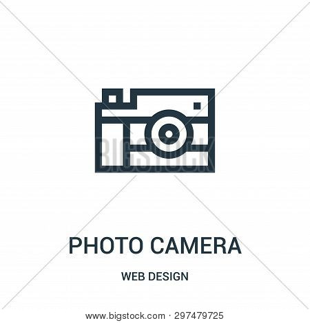 Photo Camera Icon Isolated On White Background From Web Design Collection. Photo Camera Icon Trendy