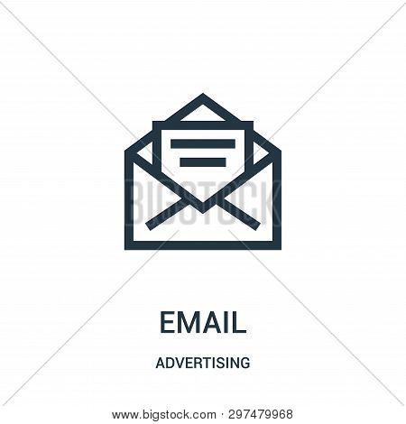 Email Icon Isolated On White Background From Advertising Collection. Email Icon Trendy And Modern Em