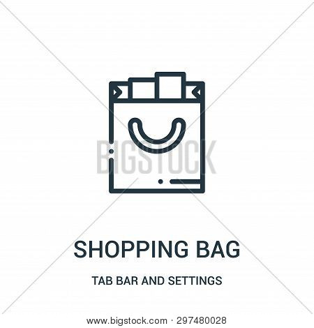 Shopping Bag Icon Isolated On White Background From Tab Bar And Settings Collection. Shopping Bag Ic