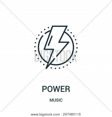 Power Icon Isolated On White Background From Music Collection. Power Icon Trendy And Modern Power Sy
