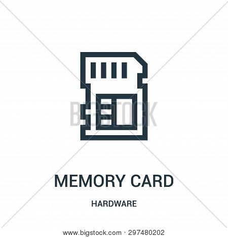 Memory Card Icon Isolated On White Background From Hardware Collection. Memory Card Icon Trendy And