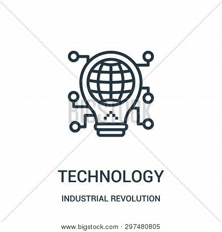 Technology Icon Isolated On White Background From Industrial Revolution Collection. Technology Icon