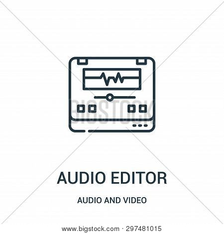 Audio Editor Icon Isolated On White Background From Audio And Video Collection. Audio Editor Icon Tr