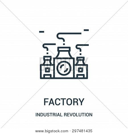 Factory Icon Isolated On White Background From Industrial Revolution Collection. Factory Icon Trendy