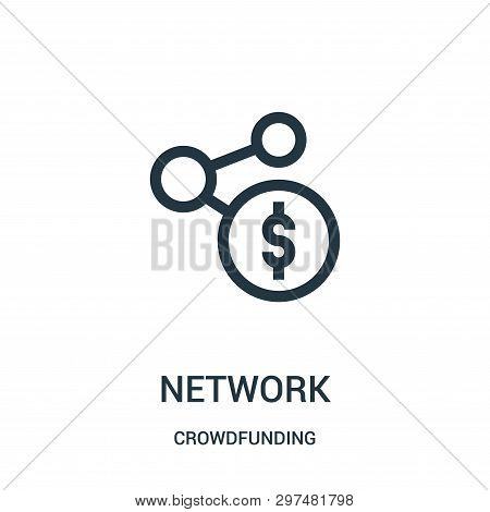Network Icon Isolated On White Background From Crowdfunding Collection. Network Icon Trendy And Mode