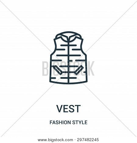 Vest Icon Isolated On White Background From Fashion Style Collection. Vest Icon Trendy And Modern Ve