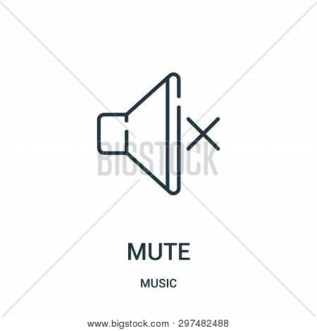 Mute Icon Isolated On White Background From Music Collection. Mute Icon Trendy And Modern Mute Symbo