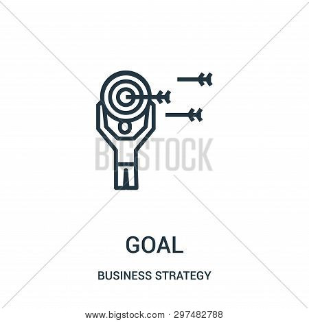 Goal Icon Isolated On White Background From Business Strategy Collection. Goal Icon Trendy And Moder