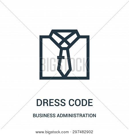 Dress Code Icon Isolated On White Background From Business Administration Collection. Dress Code Ico
