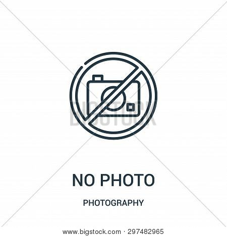 No Photo Icon Isolated On White Background From Photography Collection. No Photo Icon Trendy And Mod