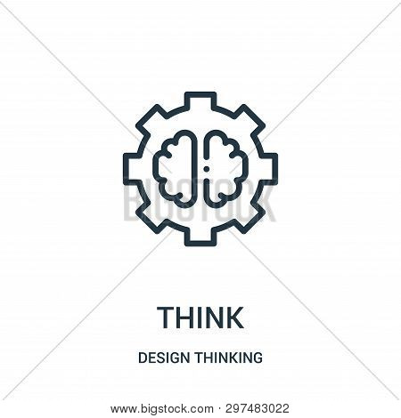 Think Icon Isolated On White Background From Design Thinking Collection. Think Icon Trendy And Moder