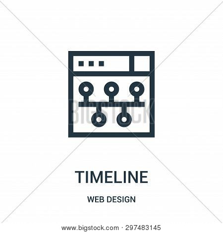 Timeline Icon Isolated On White Background From Web Design Collection. Timeline Icon Trendy And Mode