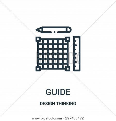 Guide Icon Isolated On White Background From Design Thinking Collection. Guide Icon Trendy And Moder